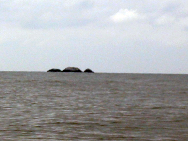 Rocas Soleded seen from Punta Riff, a small headland about 3 kms north of Santo Tomas.