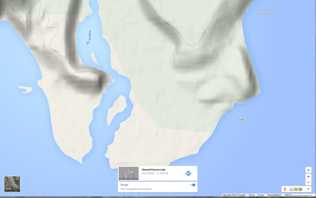 General Carrera Lake - Apprx Accident Location